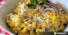 Mexikói kukoricasaláta recept képpel. Hozzávalók és az elkészítés részletes leírása. A mexikói kukoricasaláta elkészítési ideje: 15 perc Feta, Chef Salad Recipes, Chili, Cold Dishes, Kinds Of Salad, Italian Recipes, Healthy Living, Salads, Food And Drink