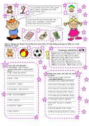 English worksheet: WHOSE POSSESSIVE S PART 2