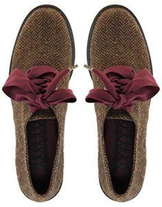 F-Troupe Flat Ribbon Lace Up Shoes