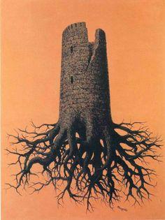 """renemagritte-art: """" Almayer's folly, 1951 Rene Magritte """""""