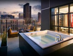 The view from the tub at the Hard Rock Hotel San Diego