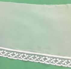 White Sheer Lace Trim    5 1/4 inches wide     2 yards
