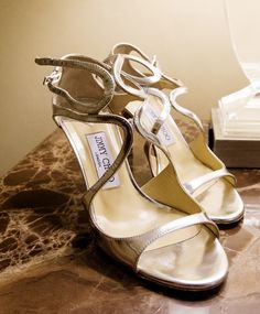 Marlena selected great mid heel JC shoes for her wedding day.