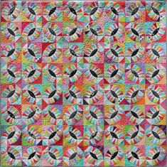 Pickled Orange Peel Quilt Pattern PDF by Emma Jean Jansen Fabric Patch, Red Fabric, Quilting Classes, Wedding Ring Quilt, Star Quilt Patterns, Black And White Fabric, Foundation Piecing, Quilt Sizes, Orange Peel