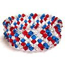 4th of July Crystal Memory Wire Bracelet tutorial