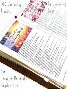 Traveler's Notebook Regular - Journaling Prompts 2016 by Journaling Sage, Instant Digital Downloads. http://journalingsage.com