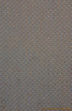 Rusted metal diamondplate grunge floor