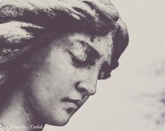 parisian Angel Statues | Black and White Woman Statue Fine A rt Photo Print ...
