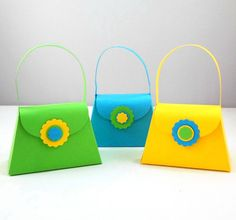 Paper Purse Party Favor Boxes  Bright Green by AcarrdianCards, $36.00