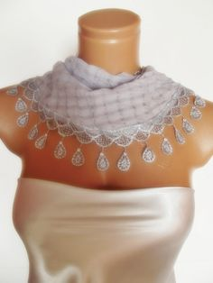 valentines day Special Design grey gray scarf by smilingpoet, $17.90