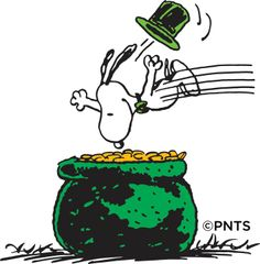 St. Patrick's Day, I just LOVE Snoopy!