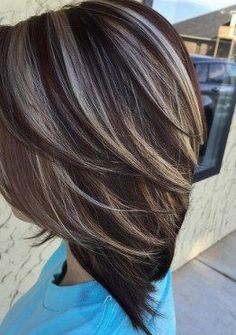 Image result for gray hair highlights and lowlights