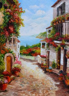 ORIGINAL Oil Painting The Beauty of Summer 23 x 36 French