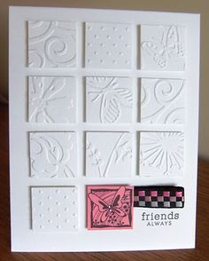 inchie; embossed folder squares