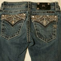"""Jeans These Beautiful Miss Me Jeans were gently worn and very well maintained. Missing ONLY 1 stuff from the black """"Miss Me"""" label. Otherwise, PERFECT CONDITION! Miss Me Jeans"""