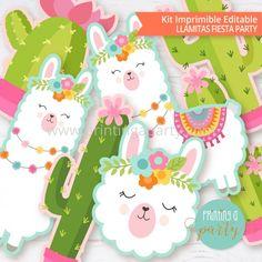First Birthday Theme Girl, Llama Birthday, One Year Birthday, Baby Llama, Cute Llama, Fiestas Party, Ideas Para Fiestas, Birthday Party Decorations, Birthday Party Invitations