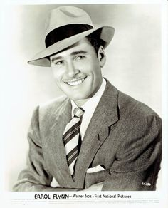 """Errol Flynn was known as a """"rogue"""" and a """"wolf"""" in Hollywood...a certified playboy, he married 3 times to Lili Damita, Nora Eddington and Patrice Wymore."""