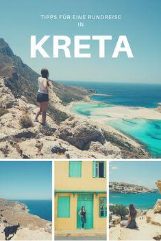 Du planst eine Kreta-Rundreise? In meinem Blogbeitrag berichte ich über die schönsten Orte der griechischen Insel, die du bei deiner Erkundung des (Nord- und Süd-)Westens nicht verpassen solltest - Hotel- und Restaurant-Tipps inklusive!  Wie wär´s mit einem feinen Dinner am Hafen von Chania? Oder mit dem Erkunden der Höhlen im Hippiedorf Matala? Ich verrate dir außerdem, was für mich der schönste Strand war! Balos Beach, Bergen, Strand, Desktop Screenshot, Restaurant, Inspiration, Fun Places To Go, Greek Isles, Round Trip