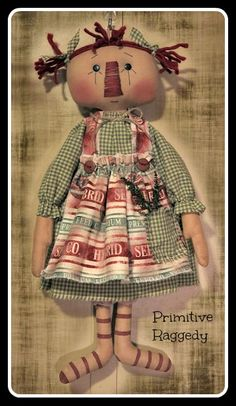 Primitive Raggedy. I used a You are Special pattern