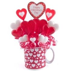 Valentine's Day Candy Bouquet Red Candy Hearts