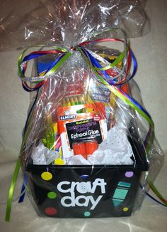 Craft day gift basket