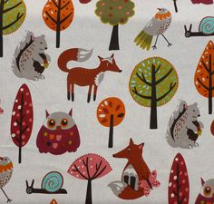 Fox in The Wood - Upholstery Fabric