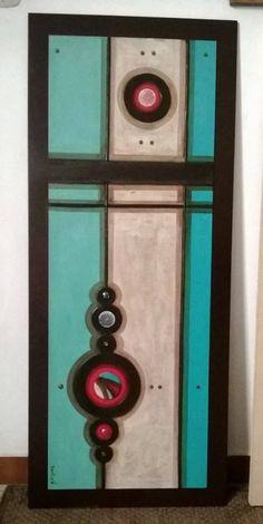 Nua diseño Multi Canvas Painting, Diy Canvas, Abstract Canvas, Canvas Art, Mosaic Art, Mosaic Glass, Glass Art, Cuadros Diy, Wine And Canvas