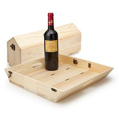 Look what I found at UncommonGoods: Convertible Wine Bottle Carrier and Serving Tray for $29.99 #uncommongoods