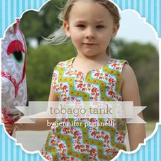 Sis Boom Tobago Tank for Girls 3/6m - 13/14y | Sewing Pattern | YouCanMakeThis.com