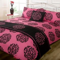 Designed by DEBORAH WILLMINGTON DESIGNS - Dreamscene Serenade Bed In A Bag, Fuchsia, Super King