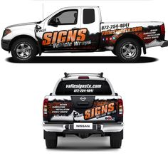 Create Professional and modern looking Partial vehicle wrap for Sign Company by dhuhayu88 (anik88)