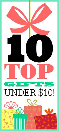 TOP 10 GIFTS UNDER $10! MUST SEE!!!!