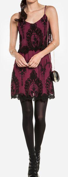 Bordeaux lace dress