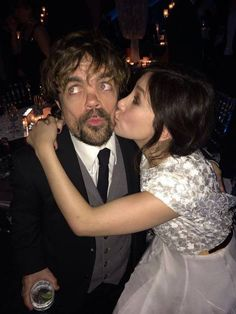 """Peter Dinklage (Tyrion) and Sibel Kekilli (Shae) at the """"Game of Thrones"""" Season 4 premiere, NYC."""