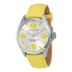 Nautica Silver Dial Yellow Silicone Watch A11630M. http://www.watchvendor.ca/nt-a11630m.html
