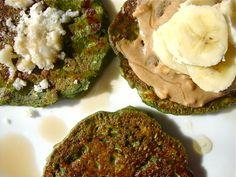 vegan green pancakes #pancakes #vegan