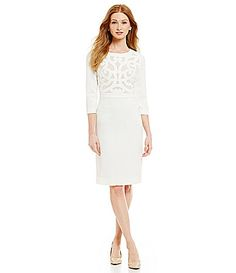 125fe91e72e Antonio Melani Mariza Stretch Crepe Sheath Dress #Dillards Antonio Melani,  White Midi Dress,