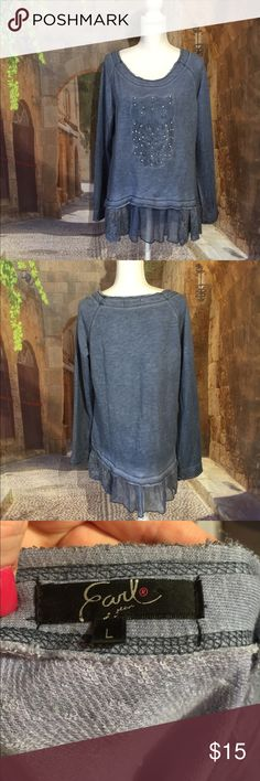 Super cute Owl top In excellent condition Earl Tops
