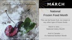 National Nutrition Month, Holiday Dates, Frozen Fruit, Celebrations, Ice Cream, Holidays, Canning, Youtube, Food