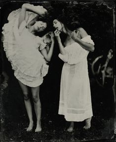 Wet plate collodion. Love the movement in this. BY Kristen Hatgi
