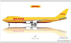 https://flic.kr/p/uujZgk | DHL Livery concept | DHL / Boeing 747-8F / Livery concept
