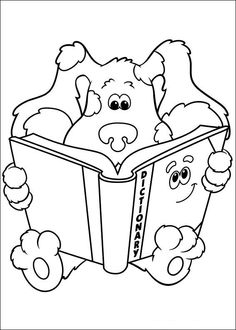 blues clues with friends blues clues coloring pages pinterest blues clues