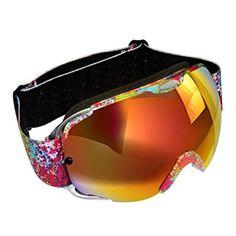 cbffbae4e4 KABB Ski Goggles, Snow Sport Snowboarding Goggles Interchangeable Lens with  100% UV Protection Anti
