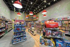 MP Brinquedos - Estúdio Jacarandá Kids Store, Toy Store, Shop Lego, Industrial Loft, Toys Shop, Store Design, Header, Interior Design, Shops