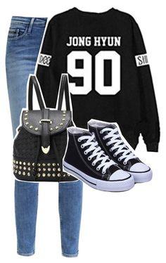 """""""매일 옷에 케이팝을 추가. [Add kpop to you daily wear]"""" by justkpopthings ❤ liked on Polyvore featuring Calvin Klein, women's clothing, women's fashion, women, female, woman, misses, juniors and shinee"""