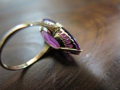 552 Heart Ring, Gold Rings, Amethyst, Jewelry Making, Gems, Jewels, Crystals, Antiques, How To Make