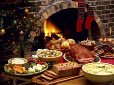 We have our Christmas dinner on Christmas Eve so we can spend more time with our presents on Christmas Day and feast on yummy leftovers. :)