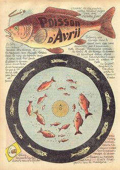le poisson! this site has lots of other antique french paper goods. #flickr