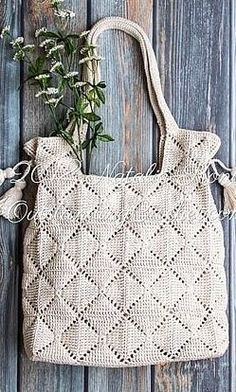 45 Amazing and easy Different colors Crochet Bag Patterns and Handbag Ideas 2019 - Page 41 of 43 Easy Crochet, Knit Crochet, Large Beach Bags, Crochet Market Bag, Crochet Handbags, Crochet Bags, Knitted Bags, Crochet Patterns, Bag Patterns