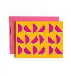 Watermelon Summer card  paper goods Floating Specks #sendmoresnailmail